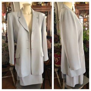 Light Blue JONES NEW YORK Skirt & Suit Jacket Set